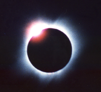 Solar eclipse - diamond ring from La Paz, 11 July 1991